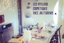 Ateliers cosmétiques / Participez à nos ateliers cosmétiques un peu partout en France. Chaque participant repart avec sa réalisation personnalisée !