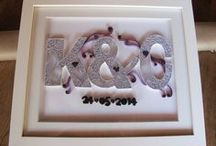 Wedding Gift Monograms - Quilling by Courtney