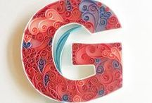 Monograms - Quilling By Courtney / Custom made Quilled Monograms