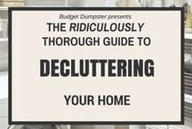 Decluttering Heaven / I am a decluttering addict - loosely following the Kon Mari method.  Every time hubby goes away, I sneak boxes out of the house!