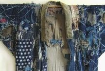 japan beaux vieux boro / vêtement japonais ancien, matelassage, patchwork de recupération appelé boro