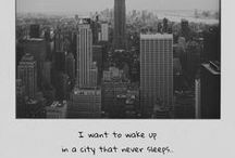 New York, New York / The Big Apple, the city that never sleeps, the city so nice they named it twice, concrete jungle where dreams are made of... I want to be a part of it.
