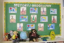 Stratford School Bulletin Boards / These pictures were taken on campus! Do you see how smart and creative our students are?