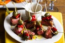 Tapas (Appetizers / Antipasto) / Traditionally a collection of Spanish appetizers, Tapas has now evolved into a full meal consisting of several courses of small delicious dishes.