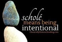 Everyday Schole / How to implement the theory of schole or restful learning into your homeschool with practical advice. Combined monthly blog hop between Classically Homeschooling, The Sunny Patch, and The Planted Trees