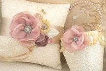 Fabric and paper Flowers