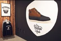 The Dudes x HUB / Collaboration between the Dudes (9 creatives in Berlin) and HUB Footwear in the basement of the HUBstore Berlin.