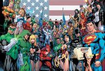 DC Comics / Batman, Superman, Wonder Woman, Green Lantern, the Flash, Aquaman, Hawkman, Green Arrow, shall I go on?