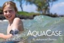 AquaCase™ / The AquaCase accessory is designed for use with the swimmable AquaMic™, AB's unique, IP 68-rated microphone. The AquaMic is 100% waterproof and does not require a bag or enclosure that significantly reduces sound quality. #waterproof #cochlearimplant