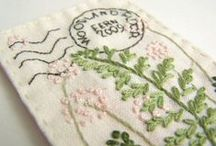 Embroidery and applications, Bordados y aplicaciones