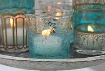 Oil lamps, candles