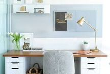 Office Inspiration / Office inspiration for an indoor space that has a clean a rustic feel and brings in elements of nature.