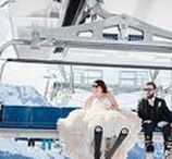 Ski & Snowboard Wedding Inspiration / Ski and snowboard themed wedding inspiration including ski resort weddings and weddings in the mountains and the snow.