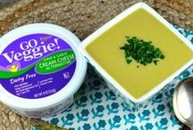 Cheesy Vegan Dishes / Vegans unite! We're collecting our favorite cheesy vegan dishes of all time.  Go Veggie! vegan cheese can be found at your supermarket in the purple packaging.
