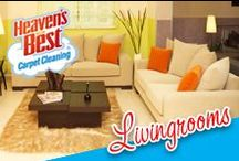 Lovely Living Rooms / It takes a great deal of time and money to keep  your home looking nice. Let Heaven's Best do the job of keeping your carpets clean with their low moisture formula  that breaks down dirt and grime that is stuck to your carpet fibers and then is picked up by our powerful equipment. Call Darrell Arrant for a cleaning estimate today. 832-724-4985