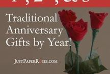 Anniversary Gifts by Year / Traditional wedding anniversary gift ideas by year!