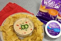 Party Snacks! / Get ready for the big game or your next intimate gathering with GO Veggie!  These healthy dips and snacks are perfect for the lactose-free or dairy-free guest.