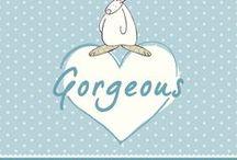 Rufus Rabbit Kort / Rufus Rabbit kort til nyfødte og bursdagskort.
