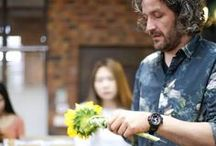 Pim van den Akker teaching at sikastone / A few times in a year Pim van den Akker teaches students in China on Sikastone floristry education. On this Pinterest board we wil share some designs he made there.