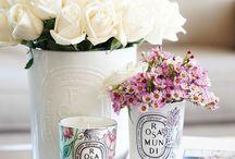 Velas Perfumadas / Ando encantanda por velas aromatizadas.  Além de darem um toque especial a decoração, deixam uma energia bacana no ar.