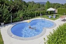 Piscine da esterno - pools / La piscina da esterno dal design moderno: interrate, fuori terra, in vetroresina ed in acciaio...
