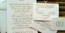 Calligraphy Invitations by CBR / Samples of Calligraphy Invitation suites and artwork by Calligraphy by Request
