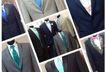 Tuxedos / We offer customizable tuxes and suits for weddings, proms, and so much more!  Come visit our shop in New Braunfels or call 830.629.4419 to set-up an appointment!    www.celebrationsbridalandprom.com