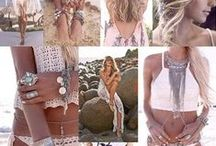 My Bohemian Mood / Carefree, happy, flowing moods and fashion. Stunning fabrics and jewellery