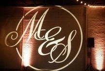 Custom Monogram  / #Dallas #wedding #lighting