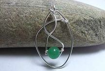 Green Jewellery / Green coloured jewellery including Emerald #green #jewellery #emerald #handmade #fashion #style https://www.silverwiredesigns.com