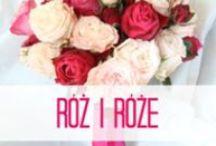 Róż i róże - różowy bukiet ślubny / różowy bukiet ślubny i dodatki