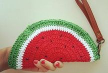 Virkkaa laukkuja - Crochet bag, purse, clutch