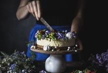 flowers and food