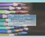 Homeschool Project Ideas / Ideas for creating home based projects using recycled materials easily found in your homeschool group. Includes step-by-step instructions and materials