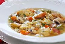 Soups / Potatoes make a good base for most cream based soups but here are some other ideas