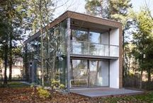 minimum house | minimum einrichten / It was during an office opening, when Wilfried Lembert and Hermann Scheidt of ska architects developed the idea of the minimumhouse.