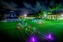 Glow Night Golf / Glowing Night Golf is a fun way to extend your game into the evening and night. Glow in the Dark Golf is for everybody from mini-golfers to professional players looking for a new twist. #NightGolf #GlowGolf