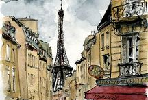 All things Paris / I love this city!    Check out A Paris Journal, a place in Paris and another time in Paris. Welcome  / by Winnie Flynn