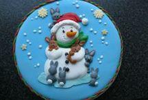 snow-peeps cookies / by Lynne V