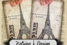 Ketrina Design / Vintage Digital Collage Sheets and Handmade Stuff