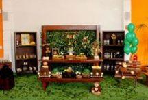 Mesas rusticas / Mesas decorativas rusticas para festas e aniversarios.