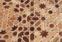 Islamic Parquet / Our Islamic parquet is a truly unique product that combines the luxury of the finest precious hardwoods with Nomad Inception's unique capacity to produce non-periodic interlace Islamic patterns.