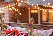 Garden, Outdoor & Entertainment area / I love entertaining and having an outdoor area with comfortable seating and beautiful fairy lights makes it so much better. Having a pool to cool down in the summer is a bonus. A tranquil place to relax and unwind in style. A girl can dream!