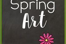 Spring Art / Spring Arts and Crafts activities for kindergarten, 1st grade and 2nd grade.