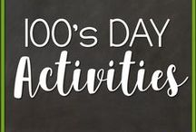 100's Day Activities / Activities to supplement 100's day lessons in January or February for grades kindergarten, 1st or 2nd grade.