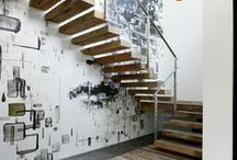 Lofty, stairs / (in) architecture
