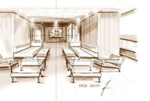 yacht interior luxury private concepts design super yacht / Main deck open salon 42m MY