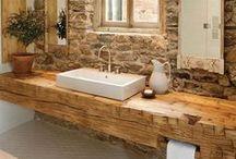 Badrum / En samling bilder på vackra badrum i marockansk och bohemisk stil med lite rustika inslag.