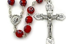 "ROSARY BEADS (Unusual) Catholic Gifts / WEAR YOUR ROSARY WITH PRIDE. Wearing Rosary Beads is not a fashion statement: One Catholic catechism instructs the faithful to wear rosary beads as ""it will help them to love Jesus more"" and serve as a ""protection from Satan"". Saint Louis-Marie Grignion de Montfort encouraged Christians to wear rosary beads. Many orders wear the rosary as part of their habit. One may wear rosary beads as a statement of faith, to keep them handy for praying throughout the day, or to avoid losing them."