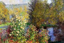 ART Claude Monet various and photos of Giverny